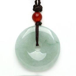 China Myanmar A cargo of natural jade auspicious peace buckle jade pendant necklace pendant jewelry lovers fashion gift cheap jade pendant jewelry suppliers