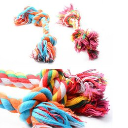 $enCountryForm.capitalKeyWord Canada - Pet Supplies Dog Puppy Cotton Chew Molar Knot Toy Durable Braided Bone Rope Tool