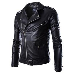 Venta al por mayor de Moda para hombre PU Chaqueta de cuero Primavera Otoño Nuevo estilo británico Hombres Chaqueta de cuero Chaqueta de motocicleta Abrigo masculino Negro Marrón M-3XL
