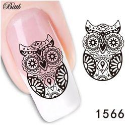 Owl nail art online shopping - Bittb Nail Art Sticker Black Lace Night Owl Fingernail DIY Decorative Flower Nail Decals Manicure Makeup Tool Nail Adhesive Foil