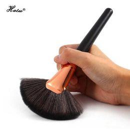 $enCountryForm.capitalKeyWord NZ - HaLu Black Large Fan Makeup Brushes Soft Foundation Loose Powder Blush Single Powder Sector Professional Makeup Brush