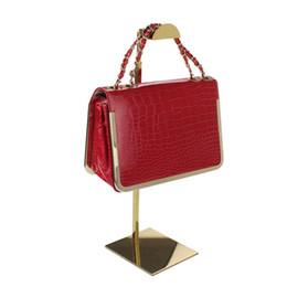 Bag stand display rack online shopping - Adjustable Metal Gold Polished Handbag Stand Display Women Bag Display Holder