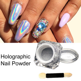 Chrome Powder Canada - Wholesale- 2016 New Arrival 1Box Holographic Laser Powder Punk Nail Glitter Rainbow Powder Chrome Metal Pigments Dust Nail Decoration