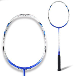 China Wholesale- High Quality Full Carbon Badminton Racket Light Weight Professional Men Women Training Competition Badminton Rackets With String cheap badminton training racket suppliers