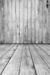 Discount vinyl photographic backgrounds - Light Grey Photography Backdrop Wood Wall Floor Vintage Baby Newborn Studio Photo Wallpaper Kids Children Photographic B