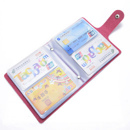 Business Card Holder Magnetic Canada - 60 Bit Slots Large Capacity New Business Cards Bags Women Men Anti-Magnetic Packs Bank ID Holders Card Holder Sets LZ0538