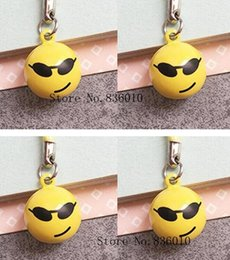 $enCountryForm.capitalKeyWord Canada - Wholesale Lot Cartoon Smiling face Charms Bell Pendant With Strap Cellphone Key Chains Toy pendant