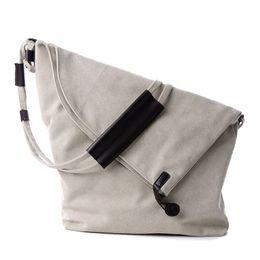 497538fcb9cf Canvas Leather Crossbody Bag Canada - Women Bag Cross Body Vintage Casual  Crazy Horse Leather Canvas