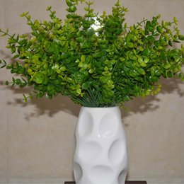 Wholesale Fresh 7 Branches New Fashion 1 Bunch Artificial Eucalyptus Grass  Green Leaves Plant For Home Office Decoration Free Shipping Artificial  Plants For ...