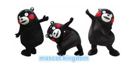 Costume De Costume Ours Pas Cher-Japon Kumamon Mascot Costume Bear Halloween Party Dress Taille adulte Livraison gratuite