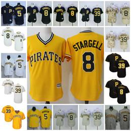 058d7c6b2 ... Throwback Yellow White Mens Pittsburgh Pirates Jersey 5 Josh Harrison 8  Willie Stargell 39 Dave Parker Cooperstown White Black ...