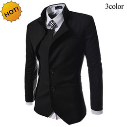 Barato Vestidos De Noite Britânicos-2017 Spring Autumn designs irregulares Slim Fit Vestido de noite mens blazer masculino britânico Single Breasted gentleman jacket