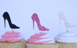 $enCountryForm.capitalKeyWord NZ - Custom personality High Heel Glitter Cupcake Toppers Bachelorette party Wedding Bridal Shower Engagement Lingerie Party Decoration