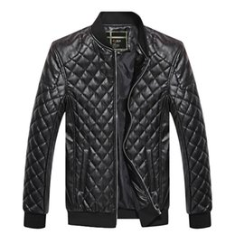 Wholesale Brand Men Jacket PU Leather Coats Bikers Motorcycle Jackets Autumn Spring Clothes Outwear Overcoat Boy Tops Large Size XL Black