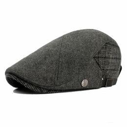 6a96d1536d734f Wholesale-2016 man vintage bone women flat cap male linen beret hat female  patchwork newsboy chapeau wholesale