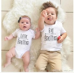 45c9c55c Family Matching Clothes T-Shirts Little Brothers Letter Cotton Short Sleeve Romper  Big Brother T-shirt Clothes Outfit Sunsuit