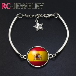 Cup Chain Settings Australia - European style Spain flag bracelet World Cup bracelet hot section can be customized Couple bracelet