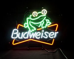 $enCountryForm.capitalKeyWord Canada - 17*14 inches New Tat tire Neon Beer Sign Bar Sign Real Glass Neon Light Beer Sign ME 082-Budweiser-Frog 16x15 001
