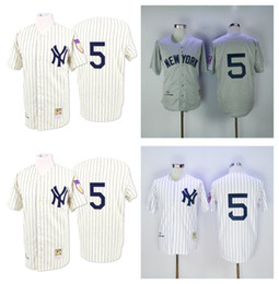 competitive price 9c9fb dc656 new york yankees 5 joe dimaggio 1951 white throwback jersey