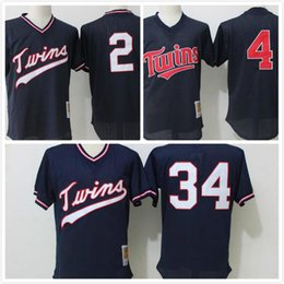 5b2cf8f43a6 ... MLB Kirby Puckett Minnesota Twins 2 Brian Dozier 4 Paul Molitor 34  Kirby Puckett 1996 Authentic Throwback Mesh Batting Mens ...