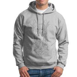 d36ac8c51 White warm hoodie and fashion male long-sleeve sweat and round neck  sweatshirt youth hoodies women wolf print hoodies S-2XL