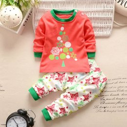 Barato Trajes De Bebê Por Atacado-Atacado- Warm Winter Baby Trajes Long Sleeve 2PCS Sets Cartoon Baby Girl Boy Vestuário New Born Baby Costume Casual Infant Outfit Clothing