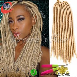 $enCountryForm.capitalKeyWord NZ - Easy install collection hair Crochet Braids Faux Locs 613 Crochet Hair 18 Inch 24 Stands pack Kanekalon Synthetic Dreadlock Hair Extensions
