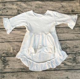 $enCountryForm.capitalKeyWord Canada - Baby Boutique Dresses children high low long ruffle sleeve tunic Girls party dress