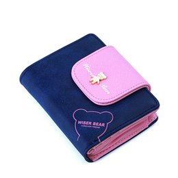$enCountryForm.capitalKeyWord Canada - Wholesale- 2017 Brand New Lovely Bear Wallet Female Leather Small Change Clasp Purse Money Coin Card Holder Carteras Girl wallets Portfolio