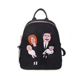 cute kindergarten backpack UK - Fashion Cartoon Mafia Family Backpacks, Cute Leisure Travel Bags, Kindergarten Schoolbags, Kid' Birthday' Party, Christmas Gifts, Collecting