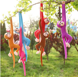 Discount toy monkey long arms - 60cm Hanging Long Arm Monkey from Arm to Tail Plush Toys Cute Colorful Doll Kids Gift Monkey Stuffed Animal Doll
