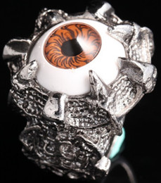 Discount great easter gifts - ring Monster eyes S925 wholesale Lord of the Ring king Engagement Anniversary Christmas gift titanium lady gold US EU Di