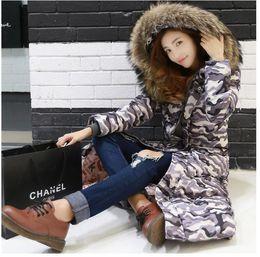 China Coat Xl Canada - 2016 China New Winter Coat Fur Super Long Thick Down Coat Slim Women Plus Sze Candy Color Down Jacket