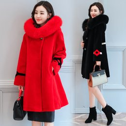 Red Cashmere Coat Fox Fur Australia | New Featured Red Cashmere ...