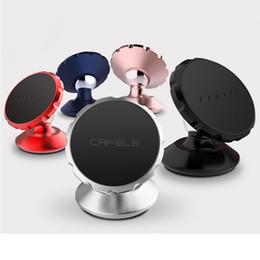 Discount smart phone car holder CAFELE Original Universal Magnetic 360 Degree Rotation Mini Car Phone Holder Magnet Mount Holder for iPhone Samsung Smar
