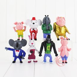 $enCountryForm.capitalKeyWord Canada - 8pcs set Sing Cartoon Figure Toy Sing Action Figure Cartoon Movie Figures 7-10CM Buster Moon Johnny Dolls Children's Gifts