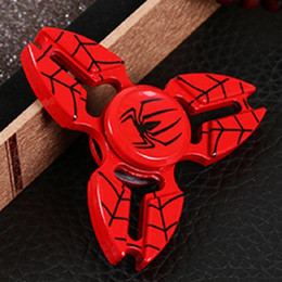 Discount metal spiderman - Wholesale Three Corner Crab Spiderman Hand Spinner Fidget Spinner kirsite Metal Bearing Finger Spinning Gyro Decompressi