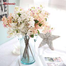 2018 Cherry Blossom Wedding Bouquet Artificial Plants Plastic Fake Flowers Home Decoration Silk Blossoms Small