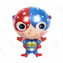 $enCountryForm.capitalKeyWord Canada - 50pcs lot cartoon Captain America Foil Balloons Party Decoration superman Balloons Kids Toys Super heroes Foil globos