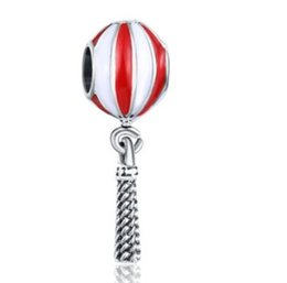$enCountryForm.capitalKeyWord UK - Wholesale Lantern Hot Air Balloon Pendant Charm For Sterling Silver European Charms Beads Fit Snake Chain Bracelet DIY Original Jewelry