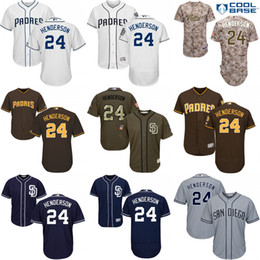 ... MLB Jersey MEN San Diego Padres Jersey 24 Rickey Henderson Cool Base  Flex Base Baseball Jerseys White Grey Womens Majestic ... cbf836320