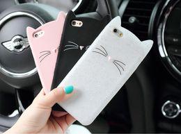 Discount cat ears phone case - New Cute Cartoon 3D Black beard Cat Ears Animal Capa Soft Silicone Phone Cases Cover For iPone 7 7Plus 6 6S 6Plus Fundas