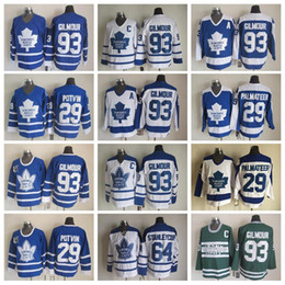 52cd68347 Best 93 Doug Gilmour Jerseys Men Toronto Maple Leafs 64 Stanleycup 29 Felix  Potvin 29 Mike Palmateer Hockey Vintage Classic