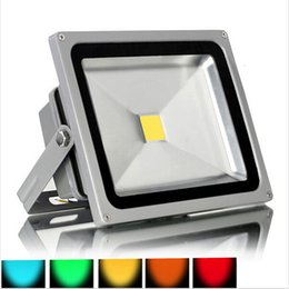 red outdoor flood lights 2019 - Waterproof LED 10W 20W 30W 50W Landscape Led Foodlight Warm white Cool white Red Green Blue Yellow Flood light Outdoor L