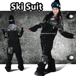 Waterproof Camouflage Clothing Canada - Fashion overalls brand professional men women ski suit girl snowboard board clothes female snow pants waterproof winter jumpsuit Camouflage