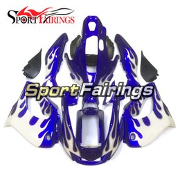 China Fairings For Yamaha YZF1000R Thunderace 97 98 99 00 01 02 03 04 05 06 07 1997 2007 ABS Motorcycle Fairing Kit Blue White Flame Body Frames suppliers