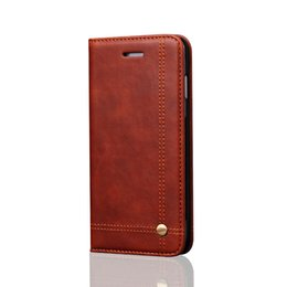 Magnetic card case online shopping - Wallet leather case for iphone cellphone case for iphone7 plus s plus s plus for samsung s7 s7edge flip case with magnetic