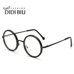 ThinnesT eyeglass lenses online shopping - DIDI Small Round Clear Lens Eyeglass Frame Retro Thin Metal Optical Spectacle Glasses Frame Accessory Brand Designer Oculos H166