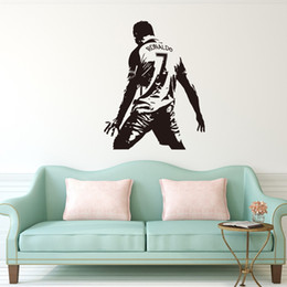 China Athlete Number 7 Sticker C Ronaldo Figure Wall Paster Background Decorative Painting Art Decal Removable PVE Walls Stickers Handily 8 2lf AR cheap pvc wall decorative sticker suppliers