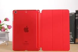 Ipad mInI smart cover stand online shopping - 100PCS Smart Cover case for iPad pro air mini air mini retina Magnetic Stand Sleep Wake PU Leather
